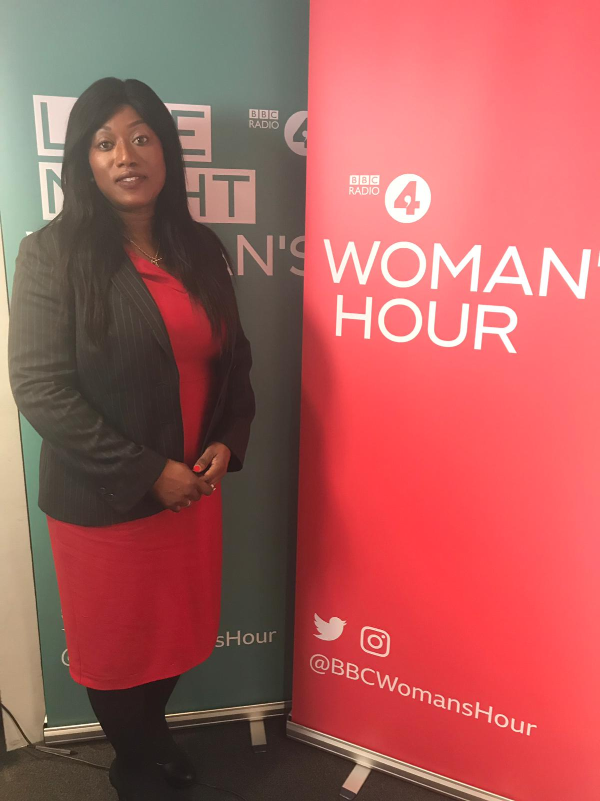Yvonne appears on Woman's Hour